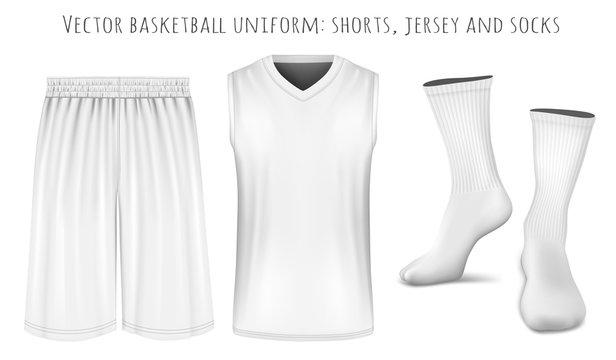 Basketball uniform vector templates
