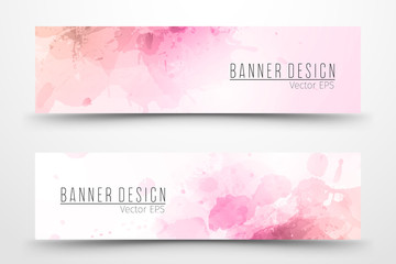 Watercolor banner design