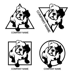 Set of bulldog logo