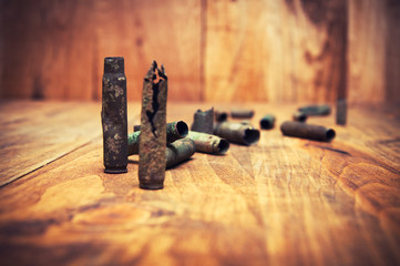 Old cartridge shells