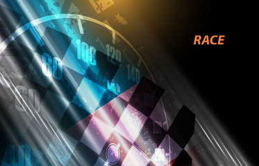 Racing square background, vector illustration abstraction in racing grandprix