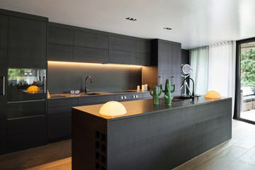 Interior, Modern kitchen Wall mural