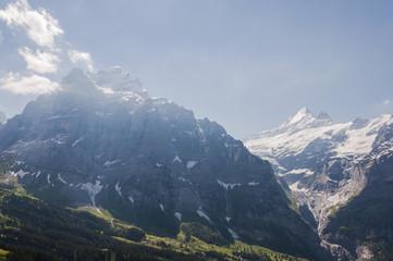 Grindelwald, Dorf, Berner Oberland, Alpen, Wetterhorn, Grosse Scheidegg, Grindelwaldgletscher, Wanderweg, Wanderferien, Sommer, Schweiz