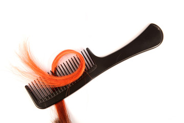 comb with artificial hair