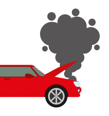Car accident isolated icon design