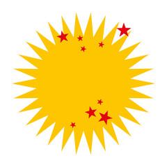crash stars isolated icon design