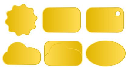 Obraz Żółte etykiety - fototapety do salonu