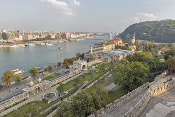 View over Budapest from Buda Castle wall