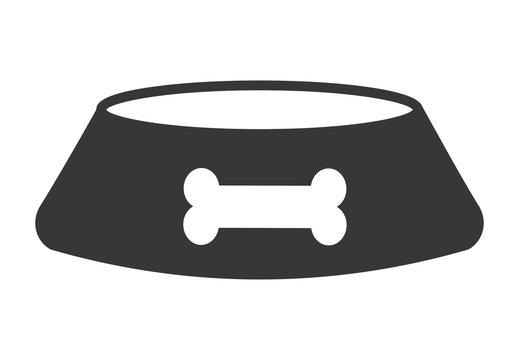 dog dish isolated icon design
