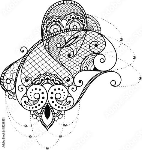 tattoovorlage spitzen muster f r schulter und arm. Black Bedroom Furniture Sets. Home Design Ideas