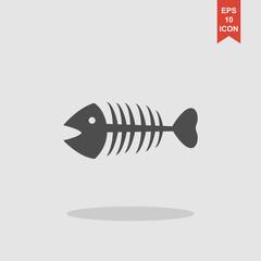 Fish skeleton. Flat