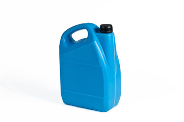 Blue plastic jerrycan