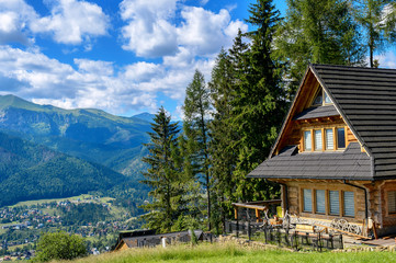 Old rural cottage in the mountains.