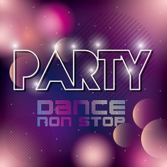 Advertising icon. Night Party and Disco. Vector graphic