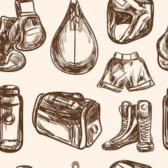 Boxing seamless pattern design vector illustration