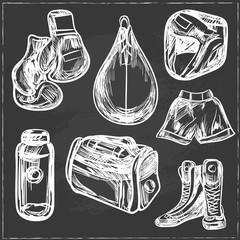 Boxing digital design vector illustration