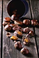 Foto op Aluminium Cafe Baked edible chestnuts