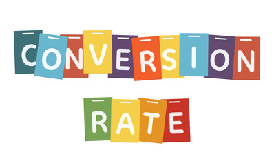 Conversion rate marketing concept vector design