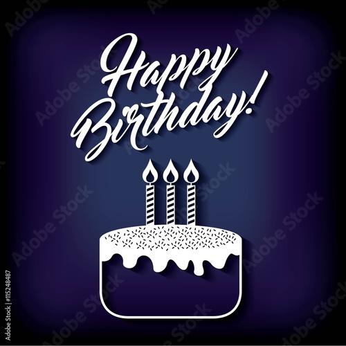 purple background happy birthday design vector graphic stock