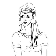 Doodle portrait of an elven princess