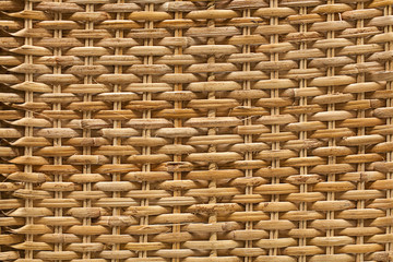 The texture of a wicker basket. Wood. Handmade. Close.