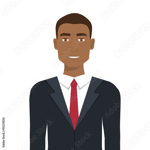 quotbusinessman with elegant suit and tie cartoon vector