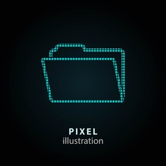 Folder - pixel illustration.