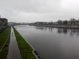 Wisla river in Krakow