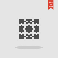 Puzzle Icon. Modern design flat style