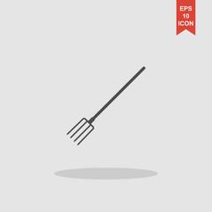 Pitchfork Icon. Vector concept illustration for design