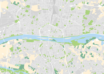 vector city map of Orleans, France