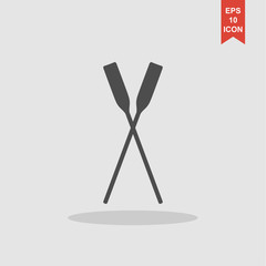 Paddle icon vectorr. Concept illustration for design