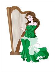 princess and harp