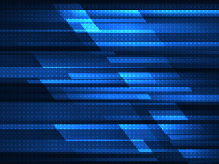 Abstract geometric background with blue stripes. Vector illustration