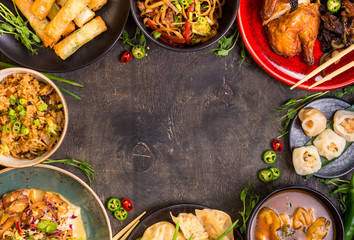 Wall Mural - Chinese food blank background
