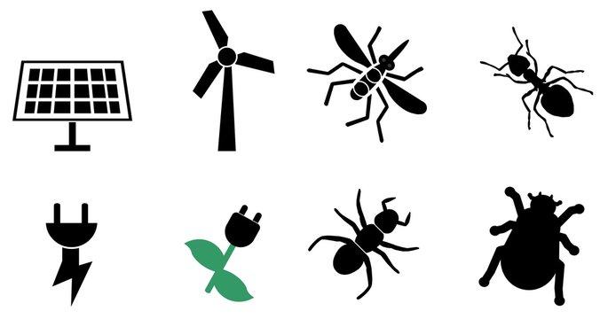 Ecologie et insectes en 8 icônes