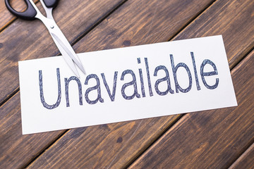 unavailable to available by scissors
