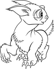 Alien Creature Vector Illustration Art