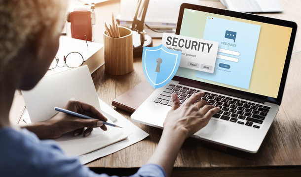 Security System Access Password Data Network Surveillance Concep