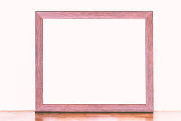 Wooden frames  on table