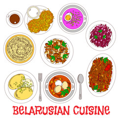 National potato dishes of belarusian cuisine icon