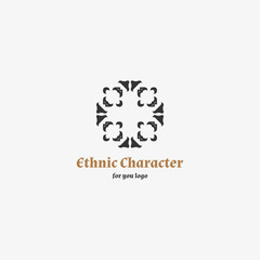 Ethno simbol - Template tradition amulet for you logo. Ethno simbol for you logo.