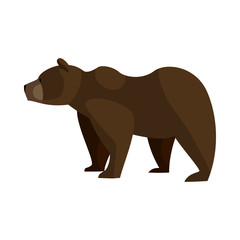 Bear icon in cartoon style isolated on white background. Animals symbol
