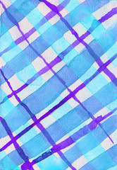 Blue and purple checkered watercolor background