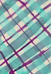 turquoise and purple checkered watercolor background