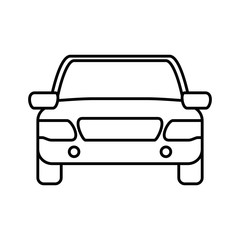 Transportation machine concept represented by car icon. isolated and flat illustration
