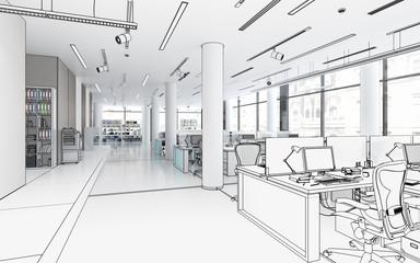 Bürofläche mit Einrichtung (Projektierung)