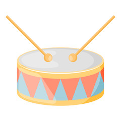 Drum colorful icon