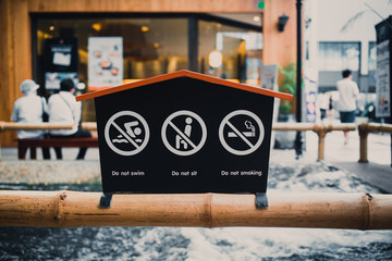 japan public warning sign.