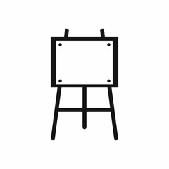 Wooden easel icon in simple style isolated vector illustration